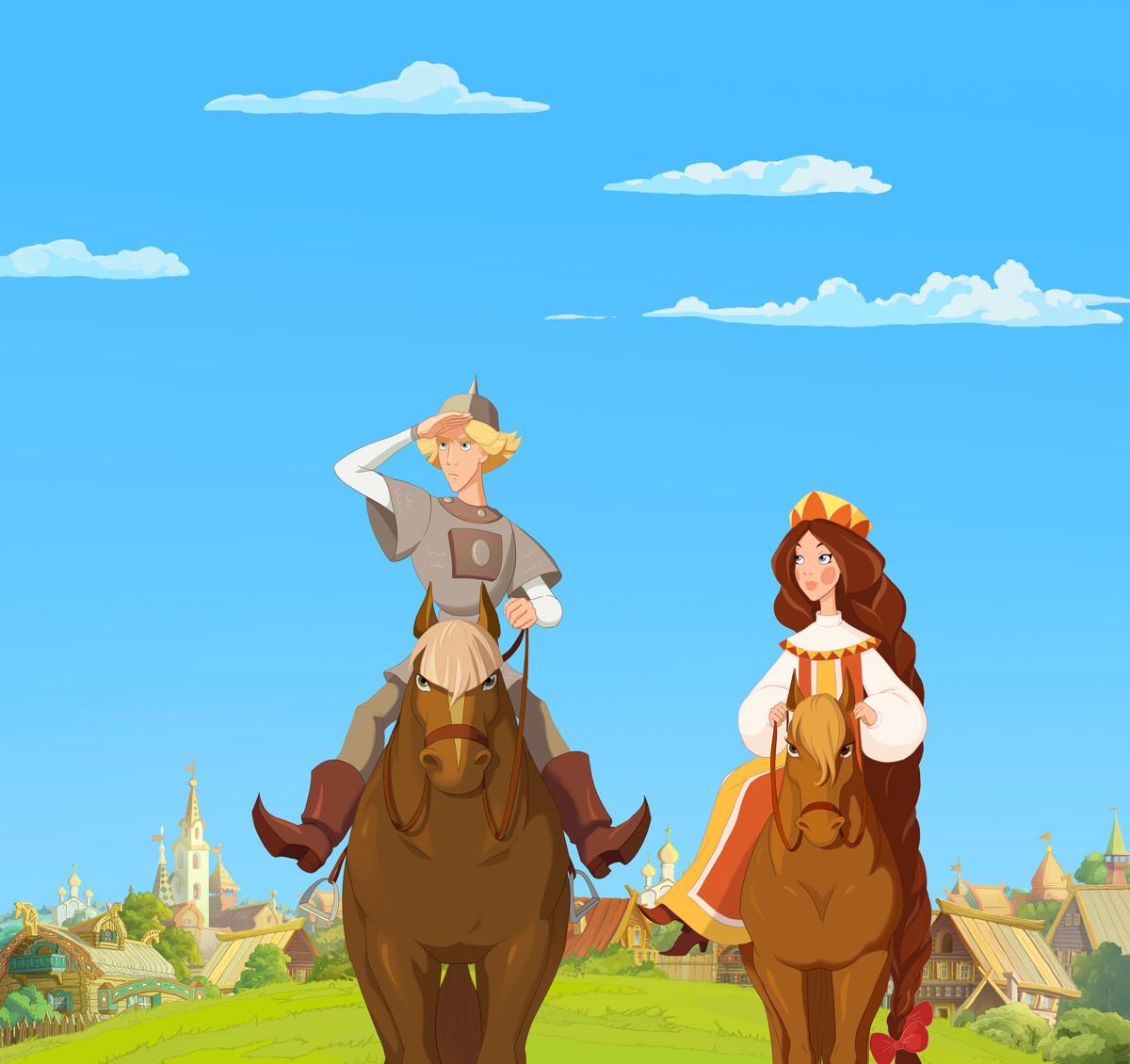 Три богатыря и Наследница престола кадр 6